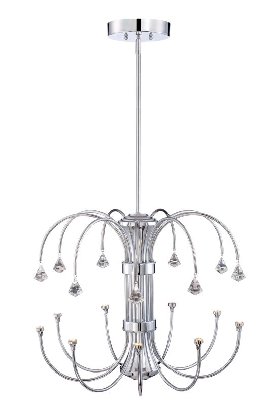 Designers Fountain LED85989 Galaxy 9 Light 1 Tier Crystal Chandelier -