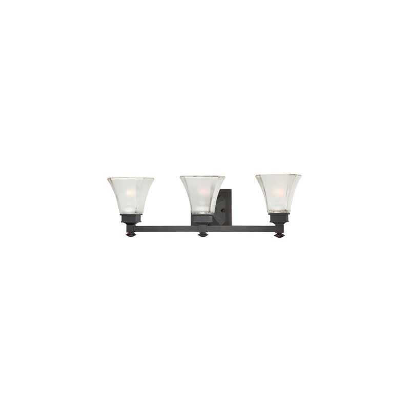 Designers Fountain 6663 3 Light Bathroom Fixture from the Canterbury