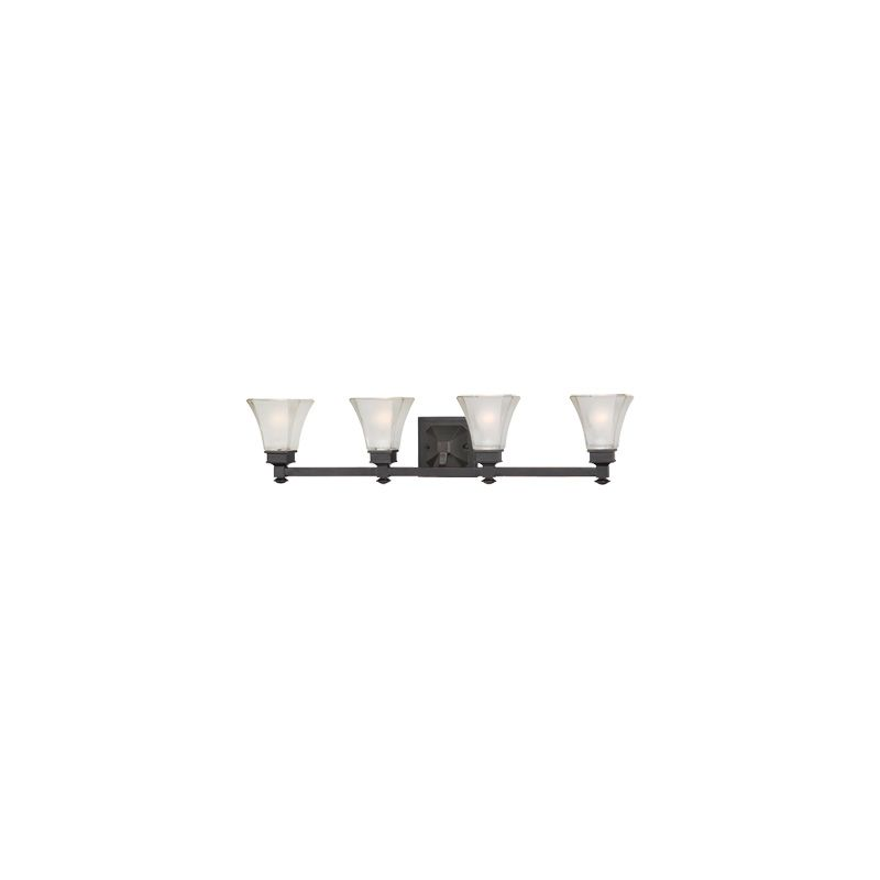 Designers Fountain 6664 4 Light Bathroom Fixture from the Canterbury