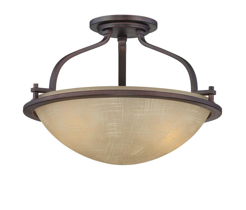Designers Fountain 83611 2 Light Semi-Flush Mount Ceiling Fixture from