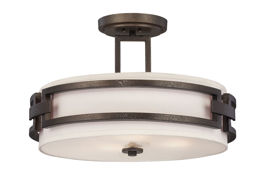 Designers Fountain 83811 3 Light Semi-Flush Mount Ceiling Fixture from