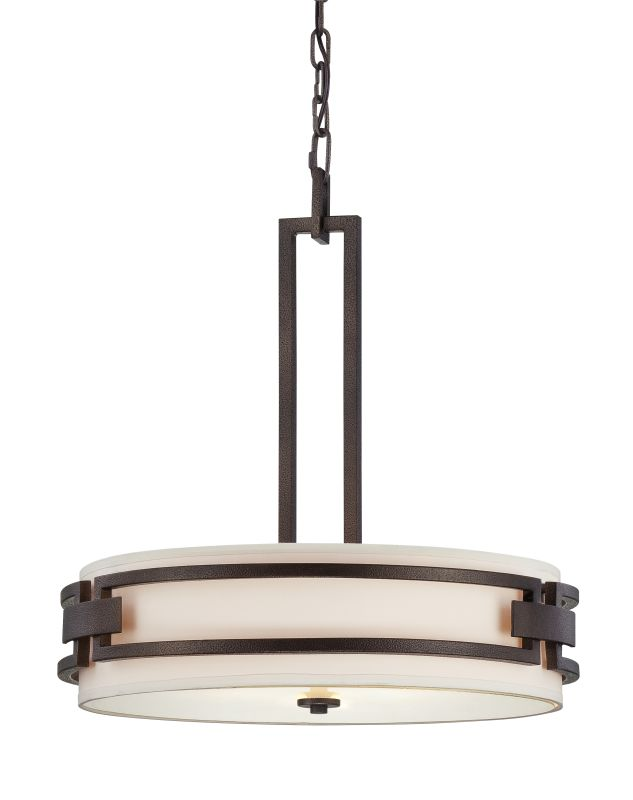 Designers Fountain 83831 3 Light Inverted Foyer Pendant from the Del