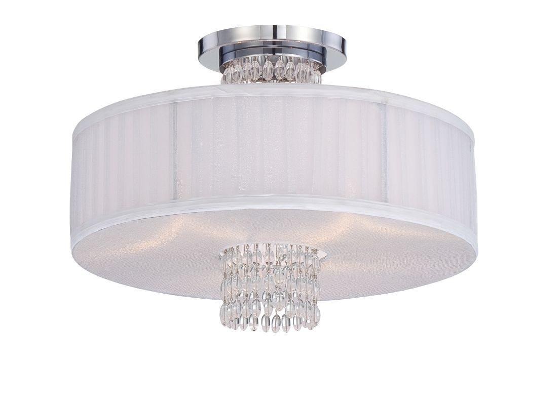 Designers Fountain 83911 3 Light Semi-Flush Mount Ceiling Fixture from