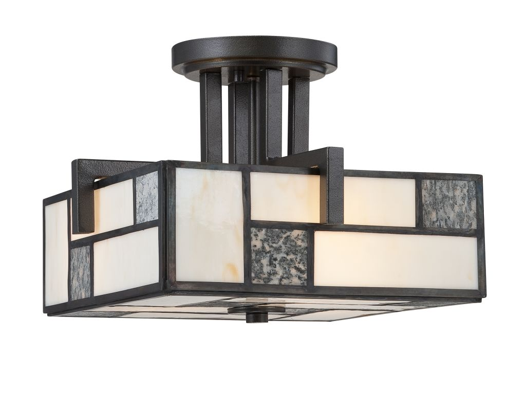 Designers Fountain 84111 3 Light Semi-Flush Mount Ceiling Fixture