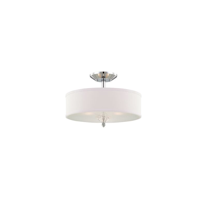 Designers Fountain 84211 Palatial 3 Light Semi-Flush Ceiling Fixture Sale $179.50 ITEM: bci1950355 ID#:84211-CH UPC: 46335959422 :