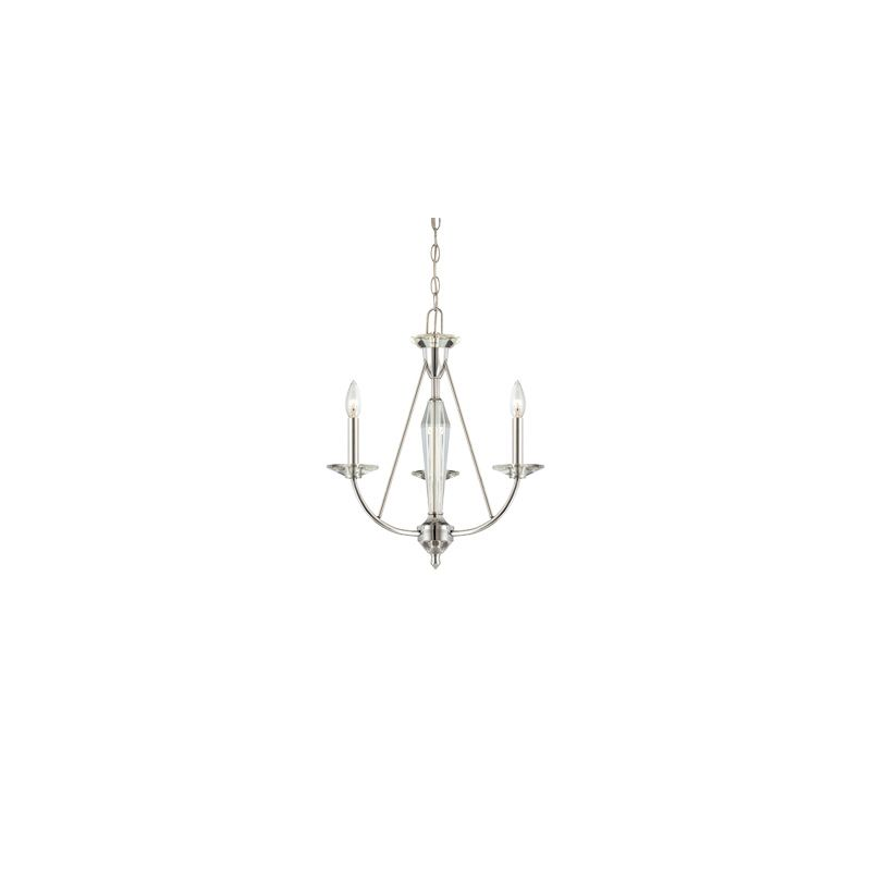 Designers Fountain 84283 Palatial 3 Light 1 Tier Up Light Chandelier