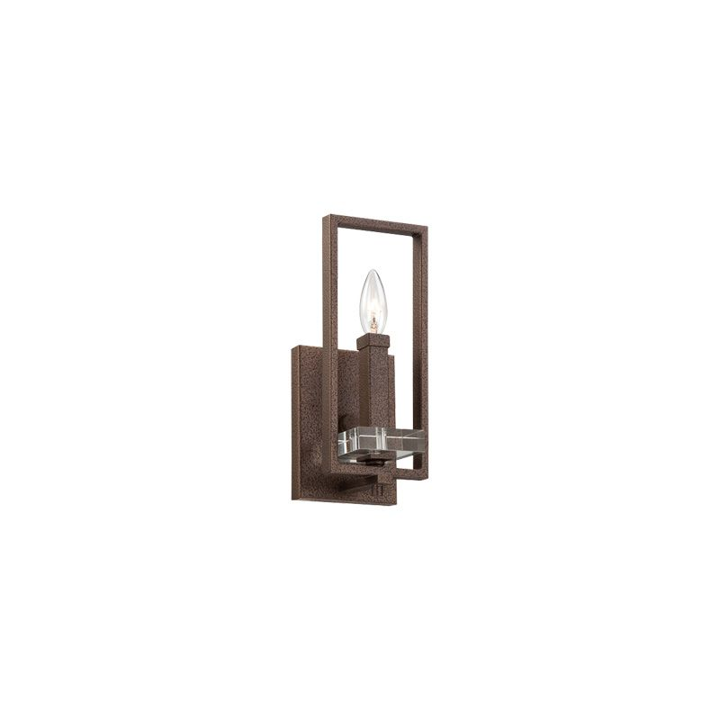 Designers Fountain 84301 Fieldhouse 1 Light Wall Sconce Bathroom