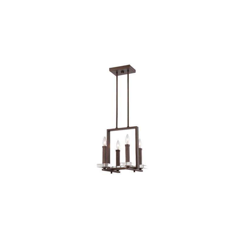 Designers Fountain 84384 Fieldhouse 4 Light 1 Tier Mini Chandelier