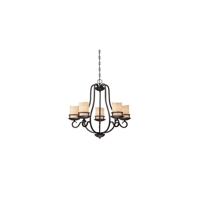 Designers Fountain 84785 Lauderhill 5 Light 1 Tier Up Lighting