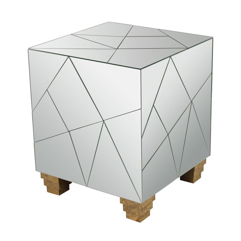 Dimond Home 114-124 Mirrored Mosaic Cube Foot Stool Mirror / Gold