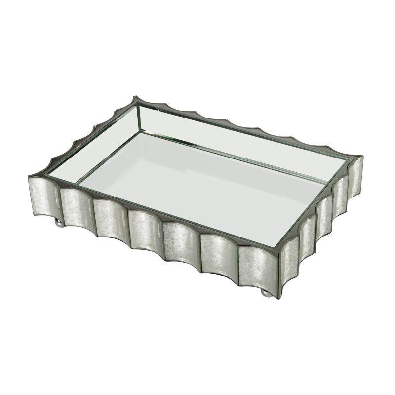 Dimond Home 114-128 Large Scalloped Edge Mirror Tray Mirror Home Decor