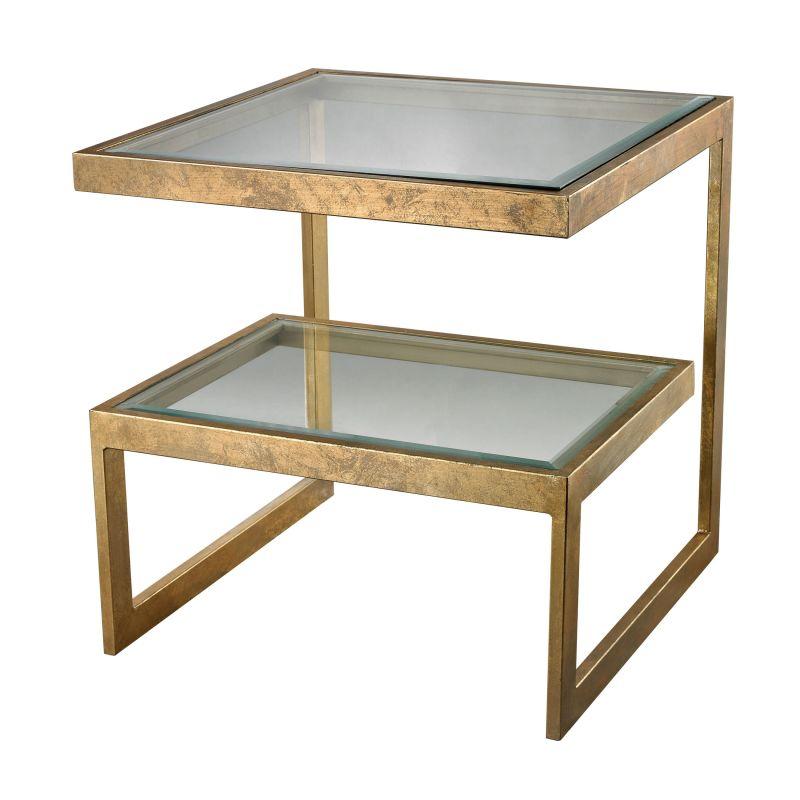 "Dimond Home 114-144 Key 26""H X 24""W X 24""L Side Table Antique Gold"
