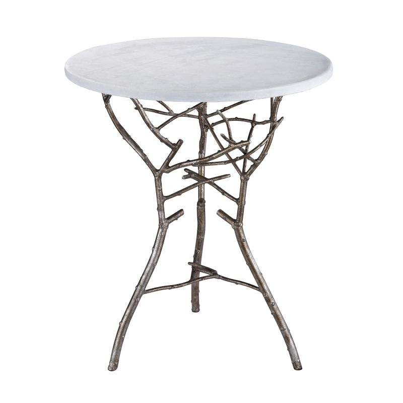 "Dimond Home 1481005 Silver Thicket 21""H X 18""W X 18""L Table Silver"