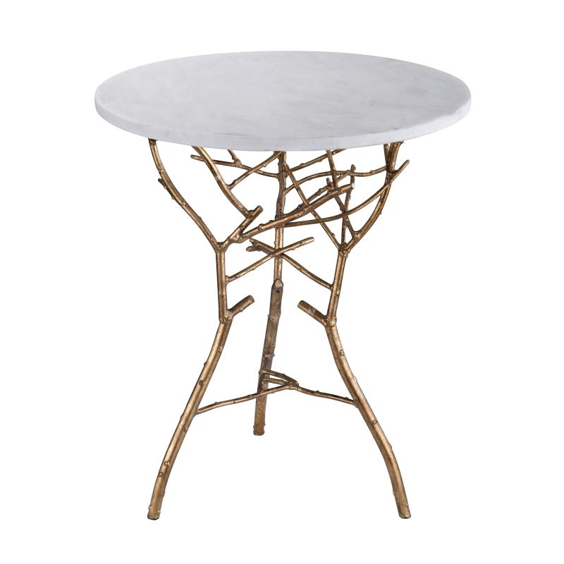 """Dimond Home 1481006 Gold Thicket 21""""H X 18""""W X 18""""L Table Gold Leaf"""