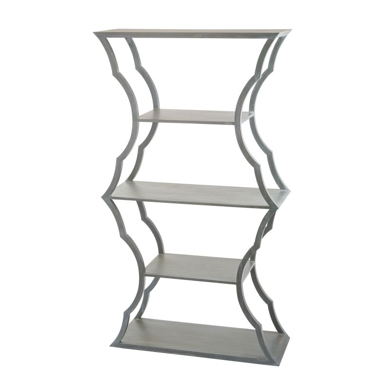 "Dimond Home 158-001 Metal Cloud 72""H X 15""W X 40""L Bookcase Grey Wood"