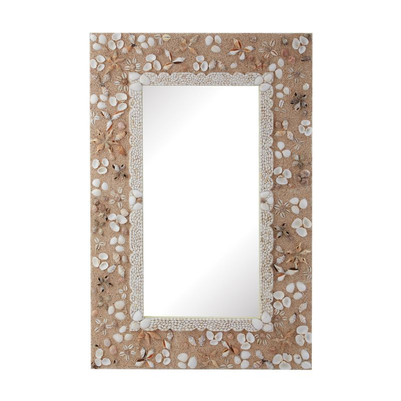 "Dimond Home 159-015 49""H X 28""W Rectangular Shell Framed Wall Mirror"