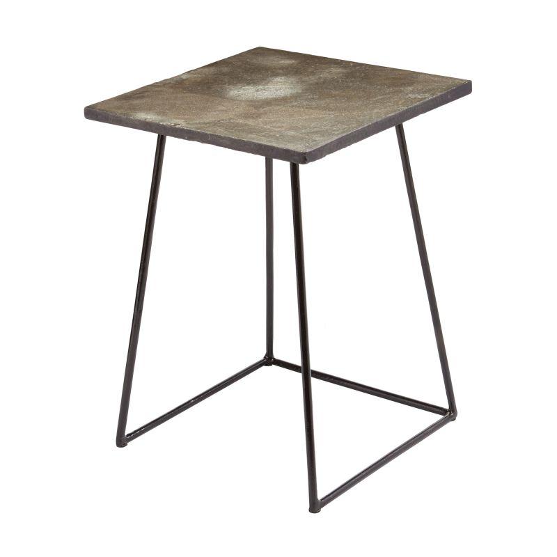 """Dimond Home 159-016 Linear Concrete 25""""H X 15""""W X 15""""L Accent Table"""