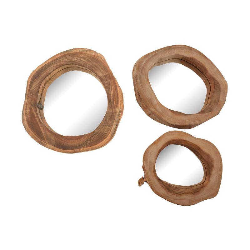 Dimond Home 162-017/S3 Teak Wood Mirrors - Set of 3 Natural Teak Home