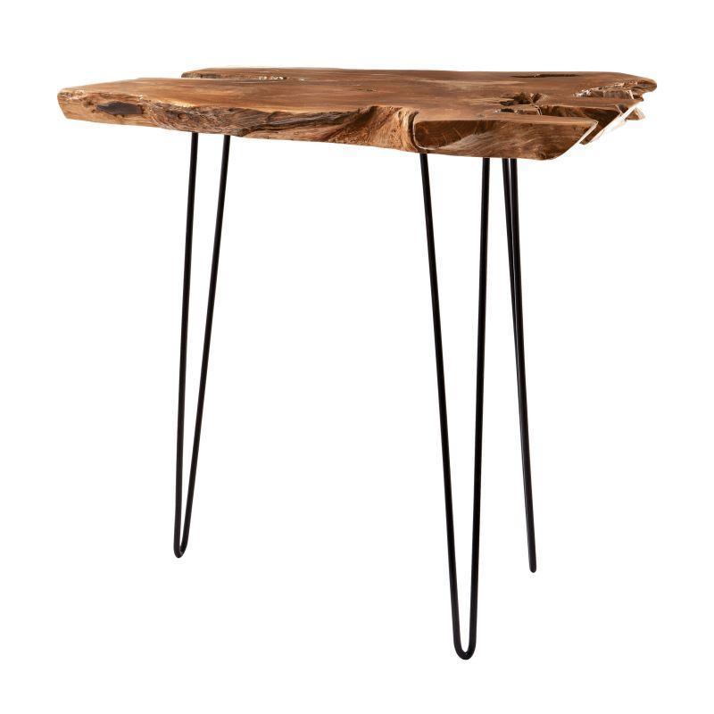 """Dimond Home 162-022 Natural Teak Slab 56""""H X 7""""W Bar Table Natural"""