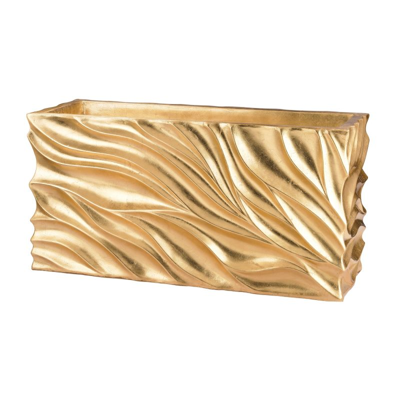 Dimond Home 166-012 Swirl Table Planter - Gold Leaf Gold Leaf Home