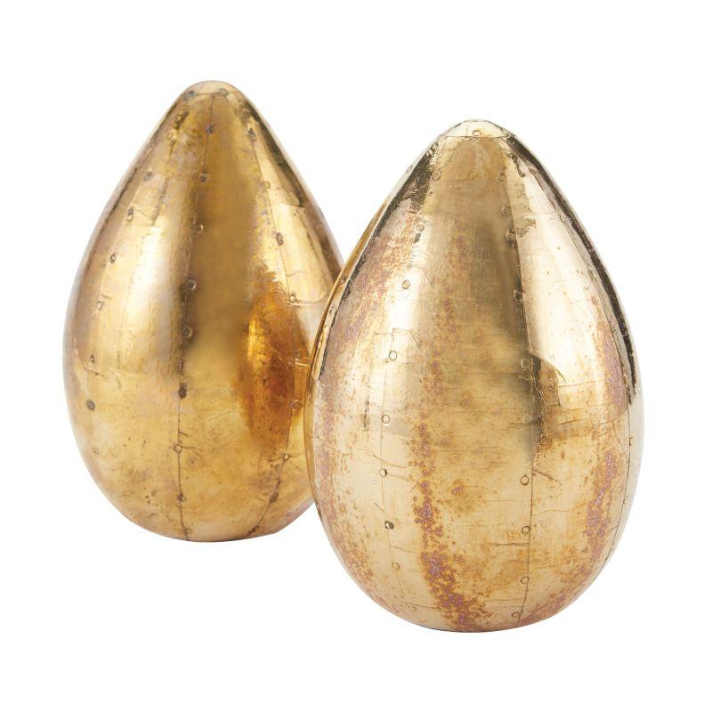 Dimond Home 178-024/S2 German Silver Metallic Eggs - Set of 2 Pale