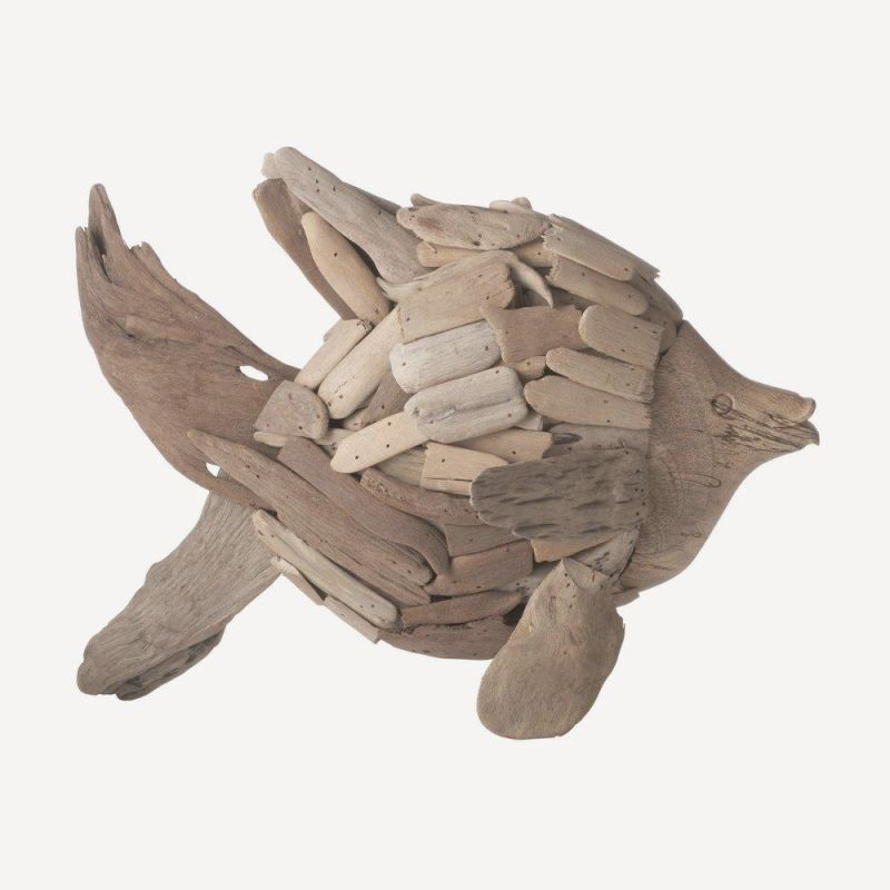 Dimond Home 356007 Natural Driftwood Angel Fish Brown Home Decor