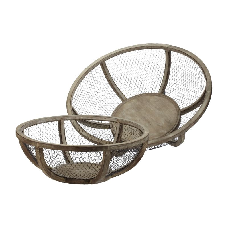 Dimond Home 594018 Wire Atlas Dishes-Set Of 2 Natural Home Decor