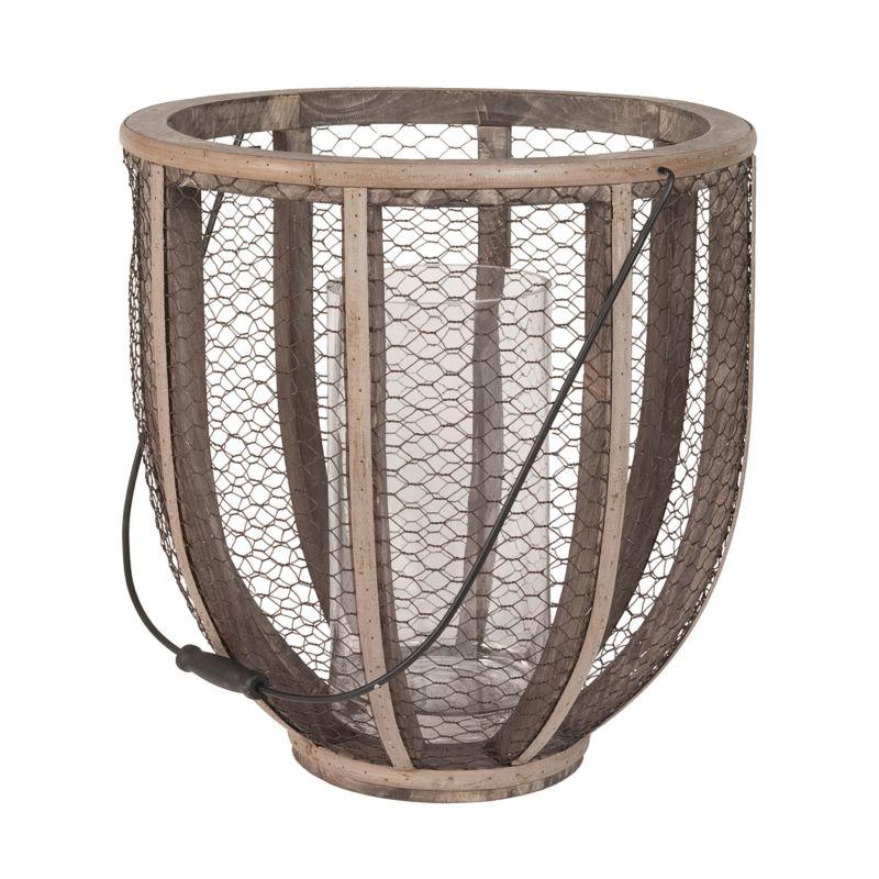 Dimond Home 594028 Barrel Wire Atlas Hurricane Vase Gray Home Decor