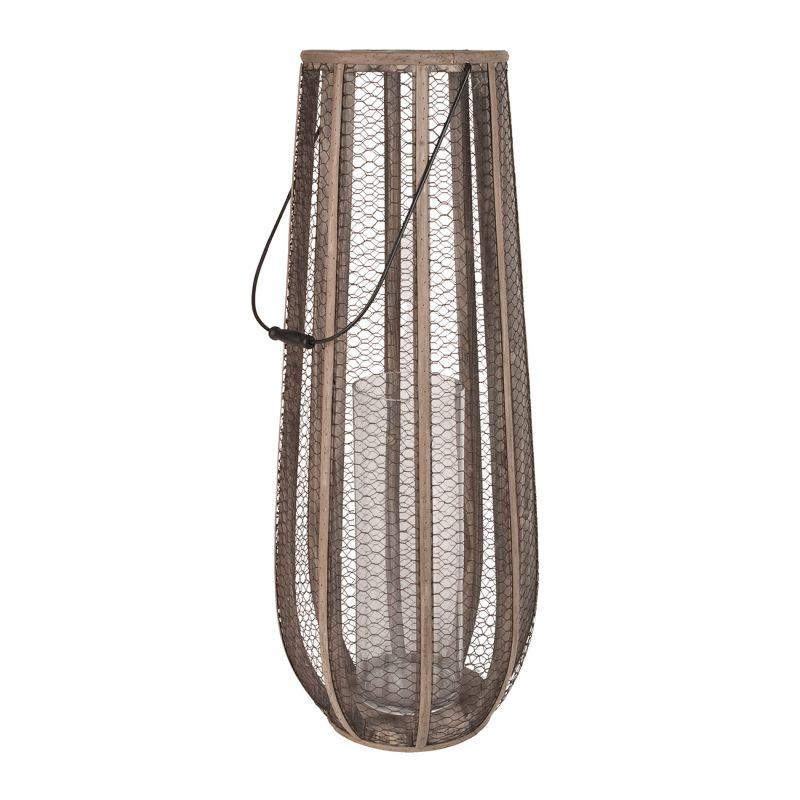 Dimond Home 594029 Slim Wire Atlas Hurricane Vase Gray Home Decor