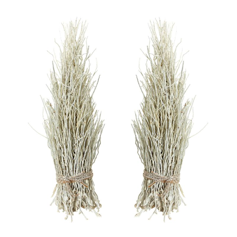 Dimond Home 742022/S2 White Washed Coco Twig Sheaf - Set Of 2 White