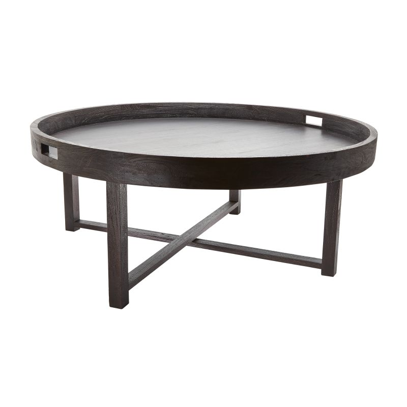 "Dimond Home 784059 Black Teak 18""H X 42""D Coffee Table Tray Brown"