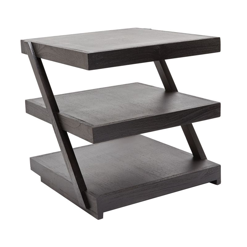 "Dimond Home 784060 Stacked Black Teak 20""H X 20""W X 20""L Side Table"