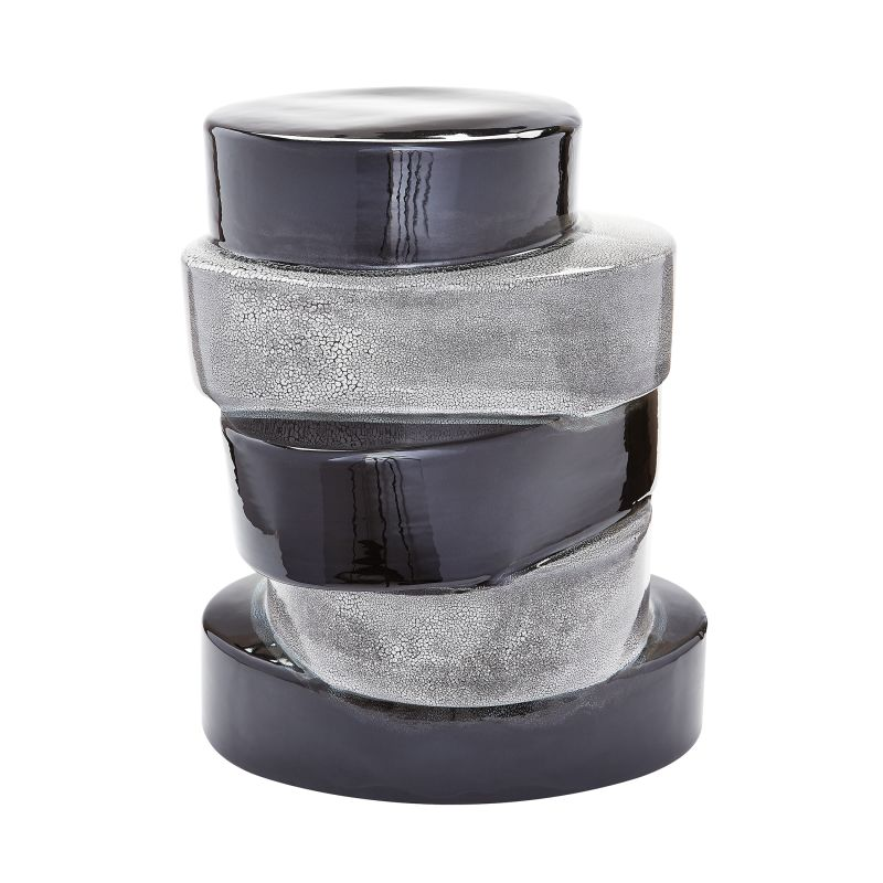 """Dimond Home 857105 Stacked Ovals 23""""H X 14""""W X 18""""L Side Table Black"""