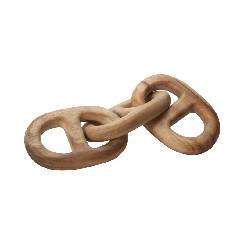 Dimond Home 950005 Hand Carved Chain Link - 3 Link Brown Home Decor