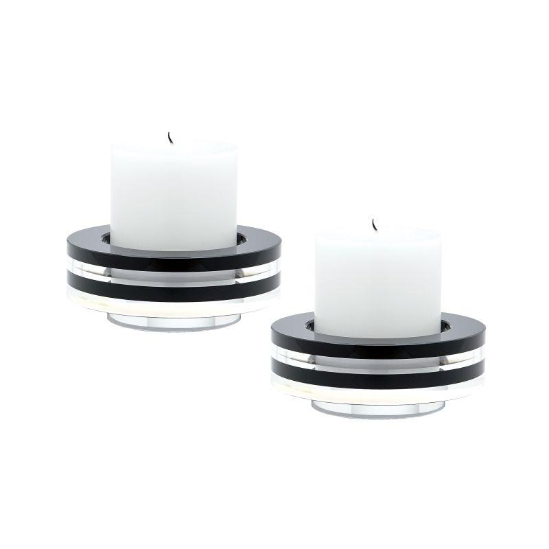Dimond Home 980025/S2 Round Tuxedo Crystal Candleholder - Set Of2