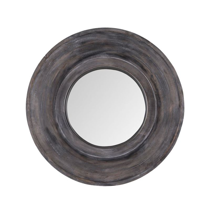 "Dimond Home 983-010 Porthole 22"" Round Wall Mirror White Washed Grey"