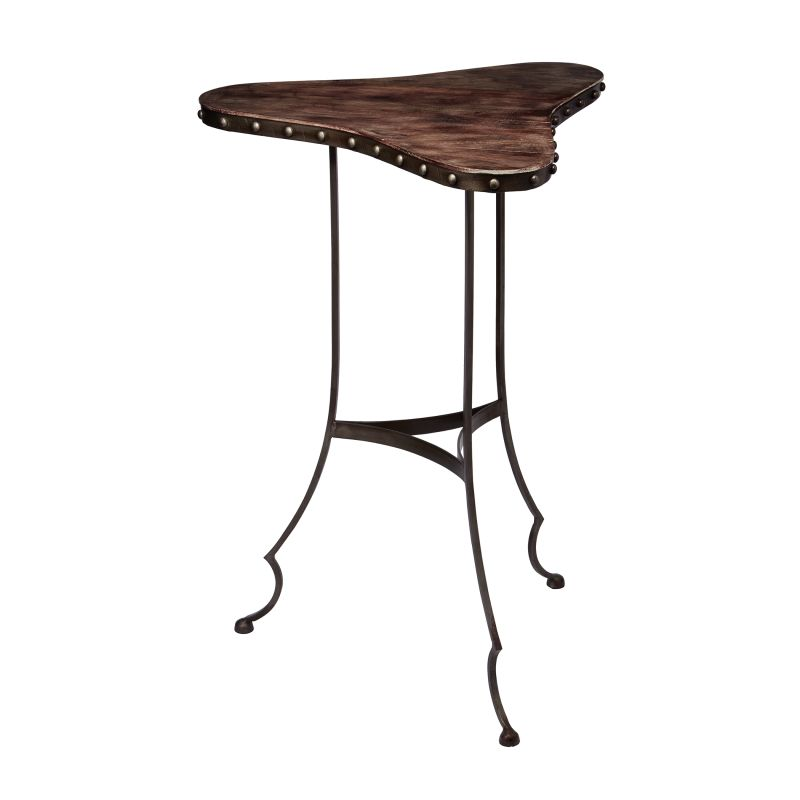 "Dimond Home 983-011 Clover 26""H X 18""W X 18""L Accent Table Dark Brown"