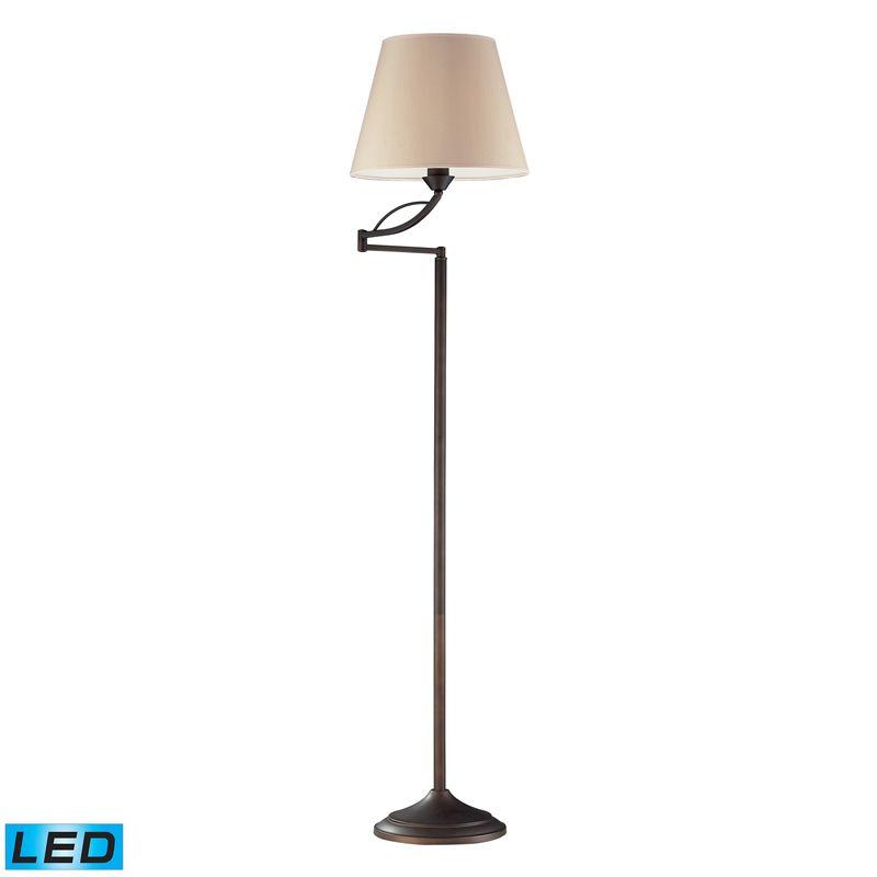 """Dimond Lighting 17027/1-LED 1 Light 56"""" Height LED Swing Arm Floor"""