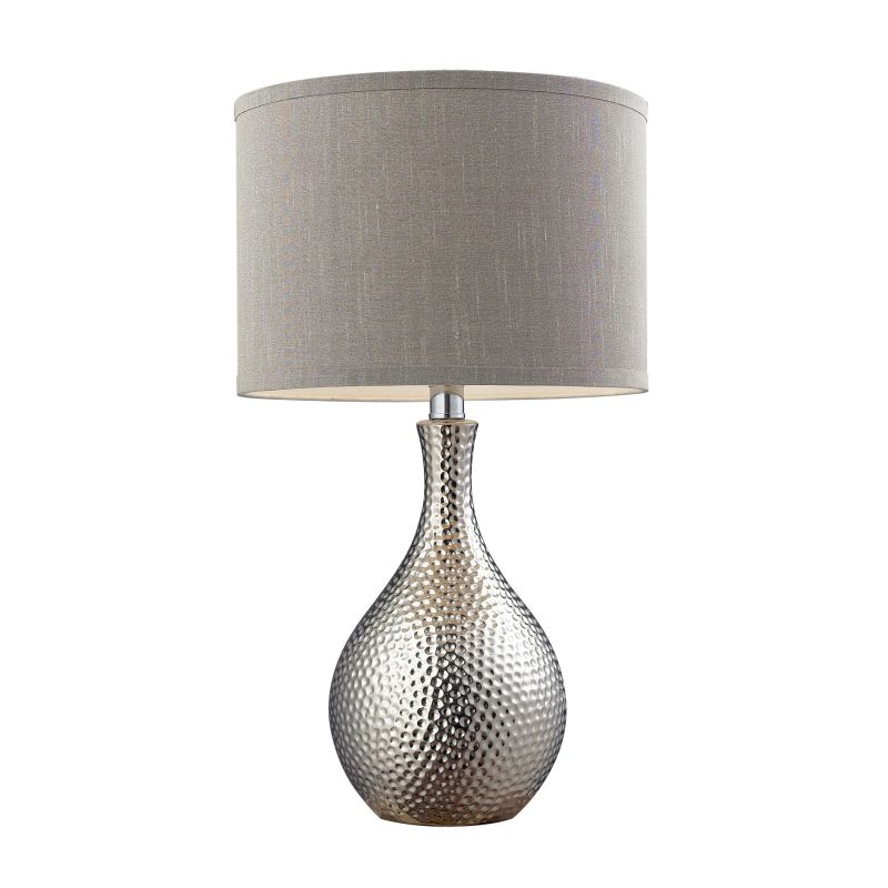 Dimond Lighting D124-LED 1 Light LED Table Lamp with Grey Shade Chrome
