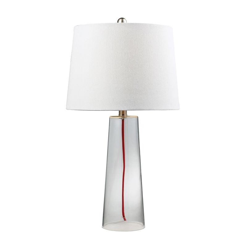 Dimond Lighting D138 1 Light Table Lamp with Pure White Shade Clear Sale $130.00 ITEM: bci2672764 ID#:D138 UPC: 748119035994 :