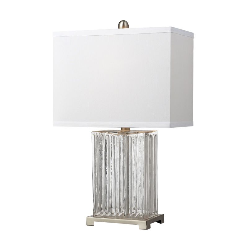 Dimond Lighting D140 1 Light Table Lamp with Pure White Shade Clear Sale $118.00 ITEM: bci2672768 ID#:D140 UPC: 748119036014 :