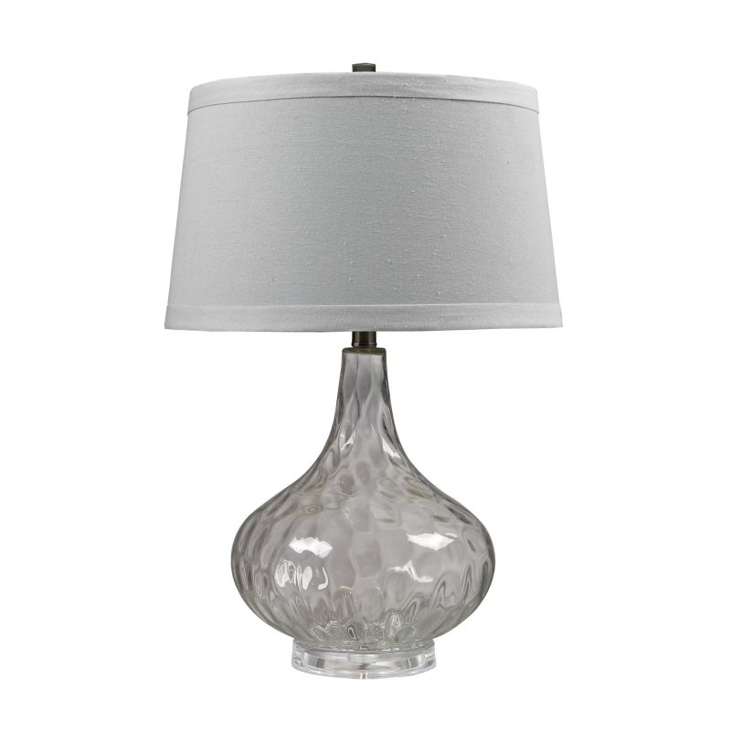 Dimond Lighting D147 1 Light Table Lamp with Pure White Shade Clear