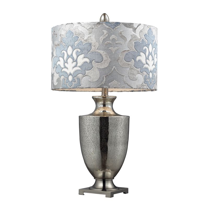 Dimond Lighting D2248P-LED 1 Light LED Table Lamp with Blue Gray Shade