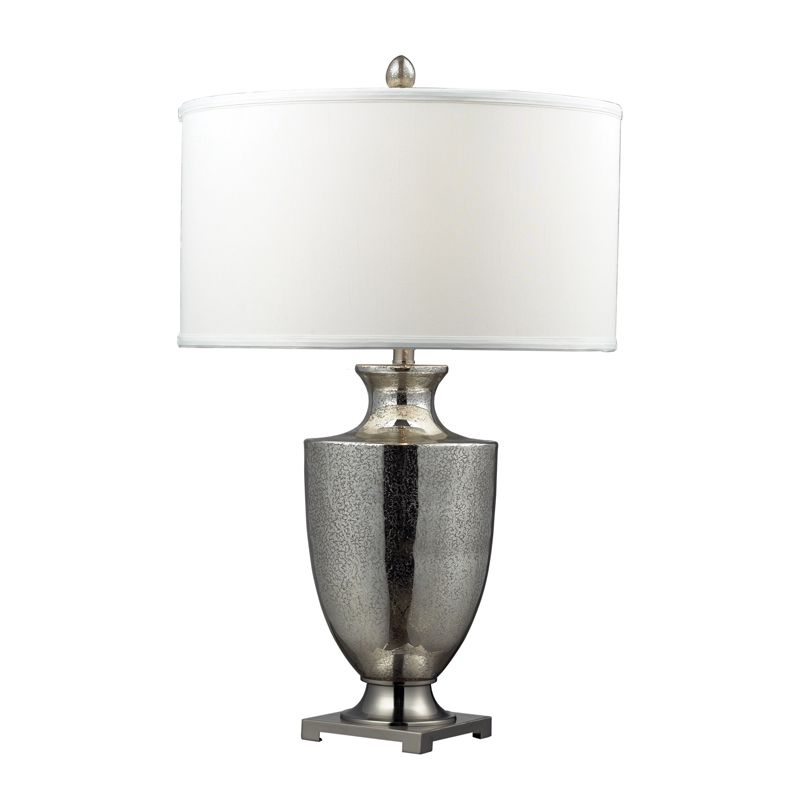 Dimond Lighting D2248W-LED 1 Light LED Table Lamp with White Faux Silk