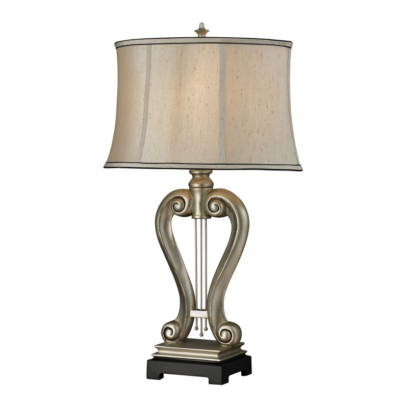 Dimond Lighting D2403 1 Light Accent Table Lamp from the Silver Harp
