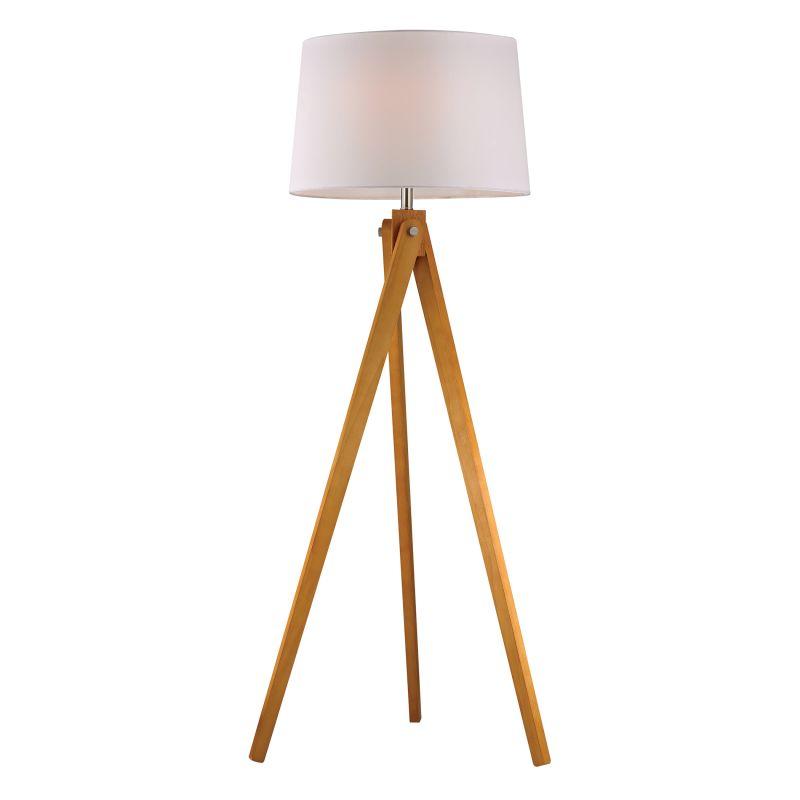 Dimond Lighting D2469 1 Light Tripod Floor Lamp from the Wooden Tripod