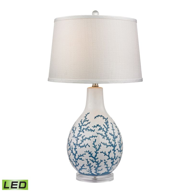 Dimond Lighting D2478-LED 1 Light LED Table Lamp in Pale Blue from the Sale $230.00 ITEM: bci2369878 ID#:D2478-LED UPC: 748119063355 :