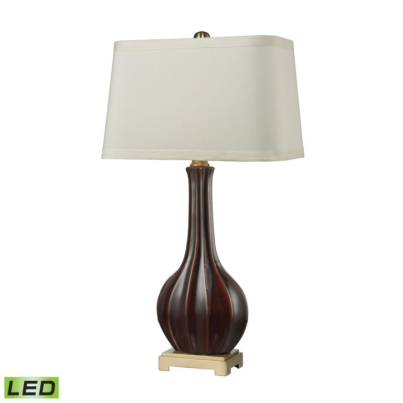 Dimond Lighting D2597-LED 1 Light LED Table Lamp in Red Glaze from the Sale $278.00 ITEM: bci2611162 ID#:D2597-LED UPC: 748119080314 :