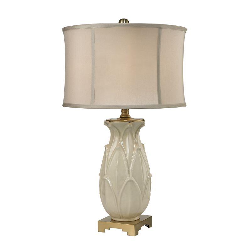 Dimond Lighting D2598 1 Light Table Lamp from the Leaf Ceramic