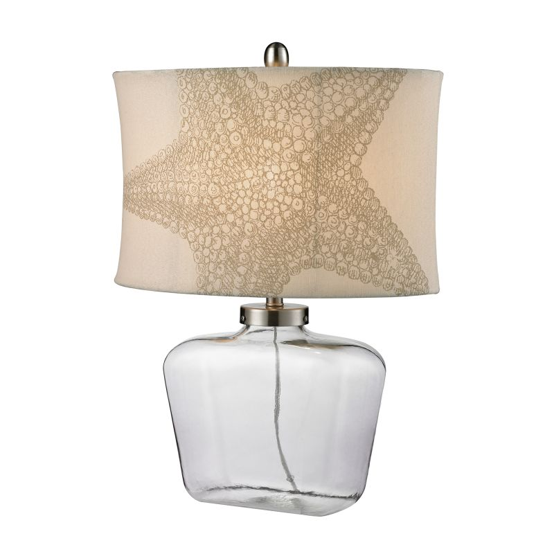 """Dimond Lighting D2617 1 Light 26"""" Height Table Lamp from the Glass"""